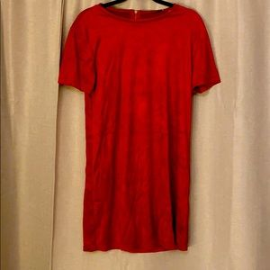 Zara velour red loose dress!
